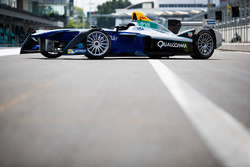 Formula E show car in the pits