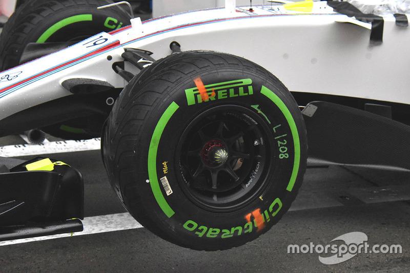 Détails de la roue avant de la Williams FW40
