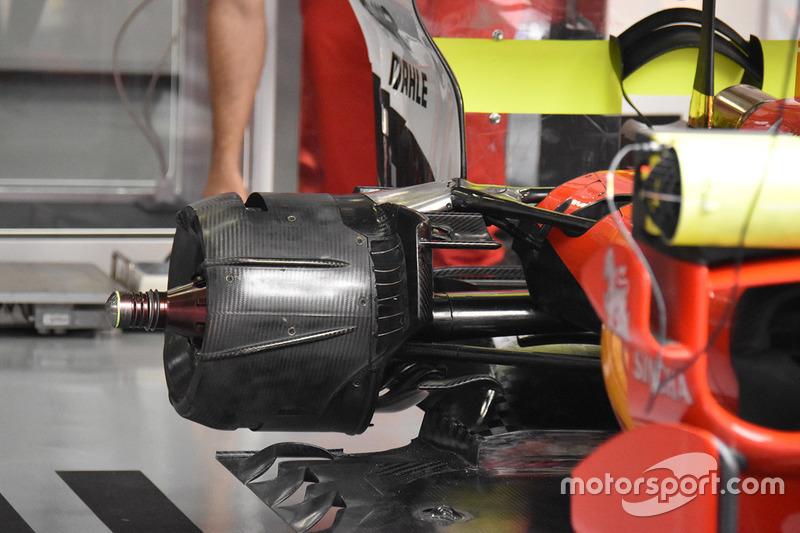 Ferrari SF70H, dettaglio posteriore