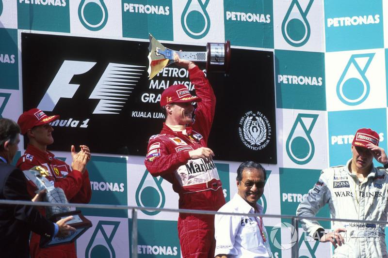 1999: 1. Eddie Irvine, 2. Michael Schumacher, 3. Mika Häkkinen