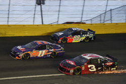 Denny Hamlin, Joe Gibbs Racing, Toyota Camry FedEx Express, Austin Dillon, Richard Childress Racing, Chevrolet Camaro Dow, Alex Bowman, Hendrick Motorsports, Chevrolet Camaro Axalta