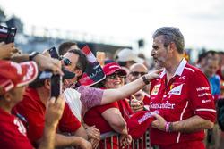 Maurizio Arrivabene, Ferrari Team Principal signs autographs for the fans