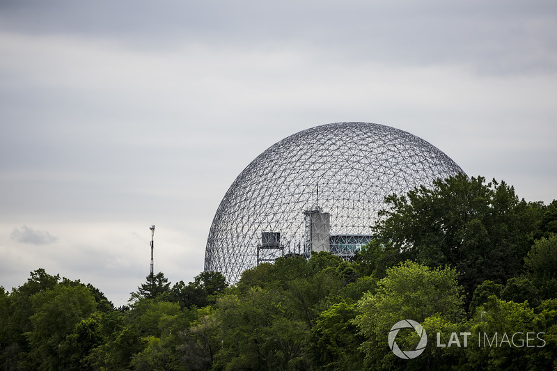 A scenic view of the Montreal Biosphere