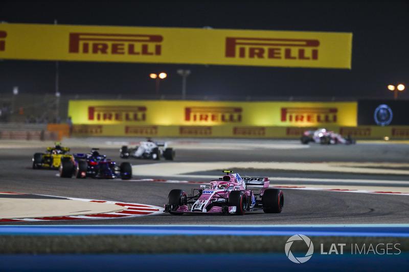 Естеан Окон, Force India VJM11 Mercedes, Брендон Хартлі, Toro Rosso STR13 Honda, Карлос Сайнс-мол., Renault Sport F1 Team R.S. 18