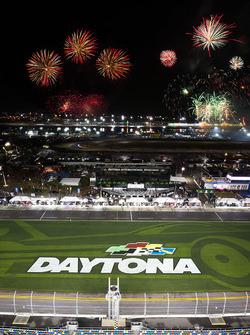 Fuegos artificiales en Daytona
