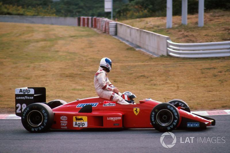 Suzuka 1988 : Gerhard Berger (Ferrari) - Derek Warwick (Arrows)