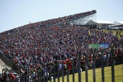 Huge crowd in the grandstands