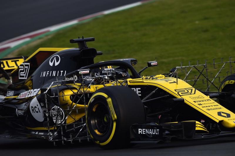 Nico Hulkenberg, Renault Sport F1 Team RS18, aero sensörü