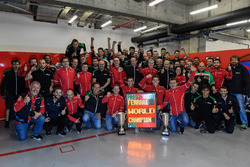 third place James Calado, Alessandro Pier Guidi, AF Corse celebrate with the team