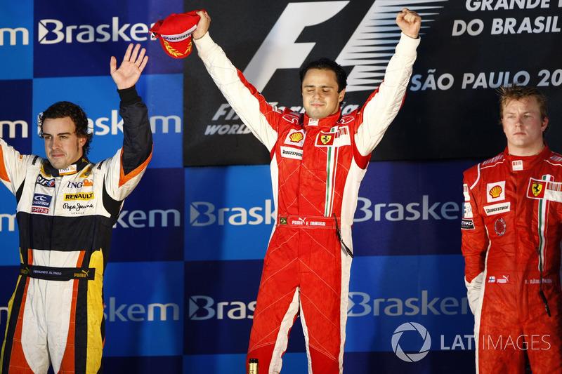 2008: 1. Фелипе Масса, 2. Фернандо Алонсо, 3. Кими Райкконен