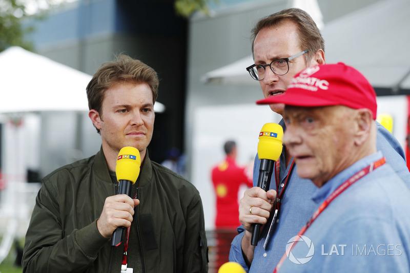 Ведущий RTL, Нико Росберг и Ники Лауда