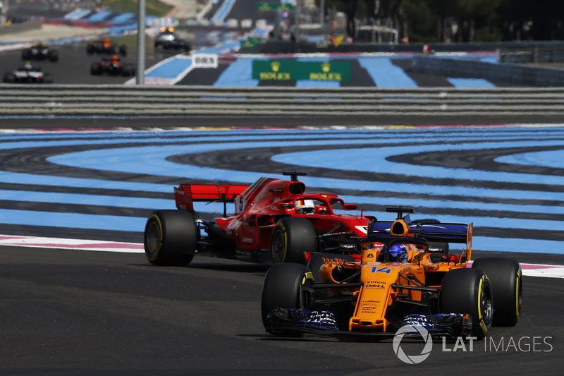Alonso, Vettel ile temasın ardından