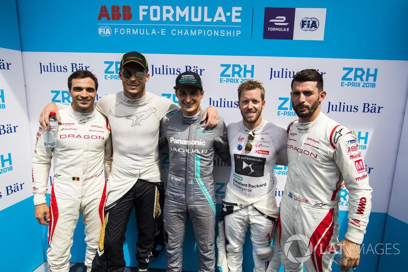 Superpole group of Jérôme d'Ambrosio, Dragon Racing, Andre Lotterer, Techeetah, Mitch Evans, Jaguar Racing, Sam Bird, DS Virgin Racing, Jose Maria Lopez, Dragon Racing