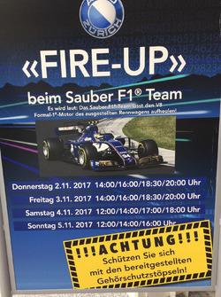 Sauber F1 Team bei der Auto Zürich am 1. November, Plakat