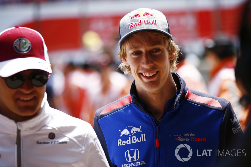 Marcus Ericsson, Sauber, and Brendon Hartley, Toro Rosso