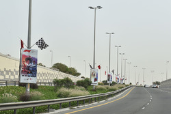 Approach road and signage