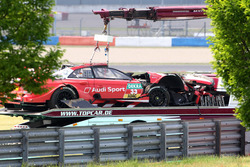 The car of René Rast, Audi Sport Team Rosberg, Audi RS 5 DTM after the crash