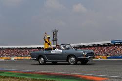 Nico Hulkenberg, Renault Sport F1 Team, on the drivers parade