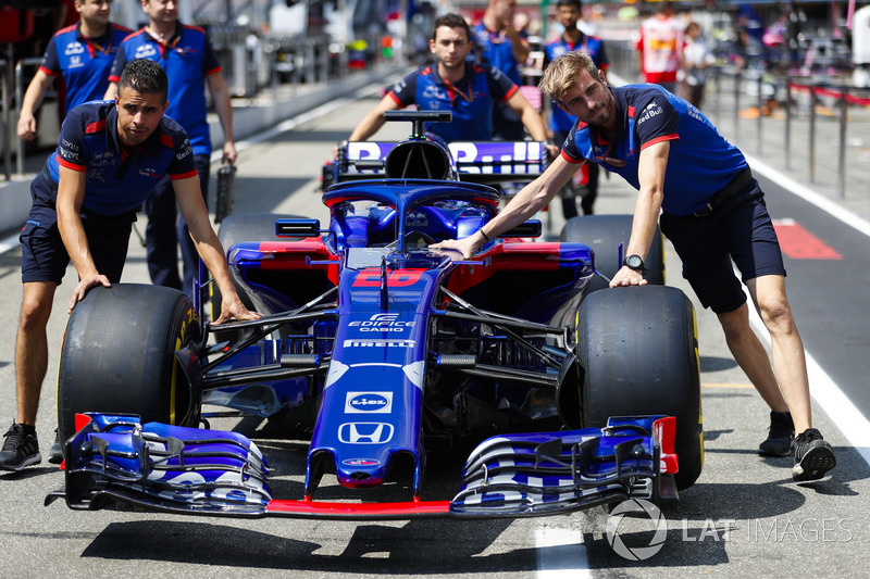 La monoposto di Brendon Hartley, Toro Rosso STR13