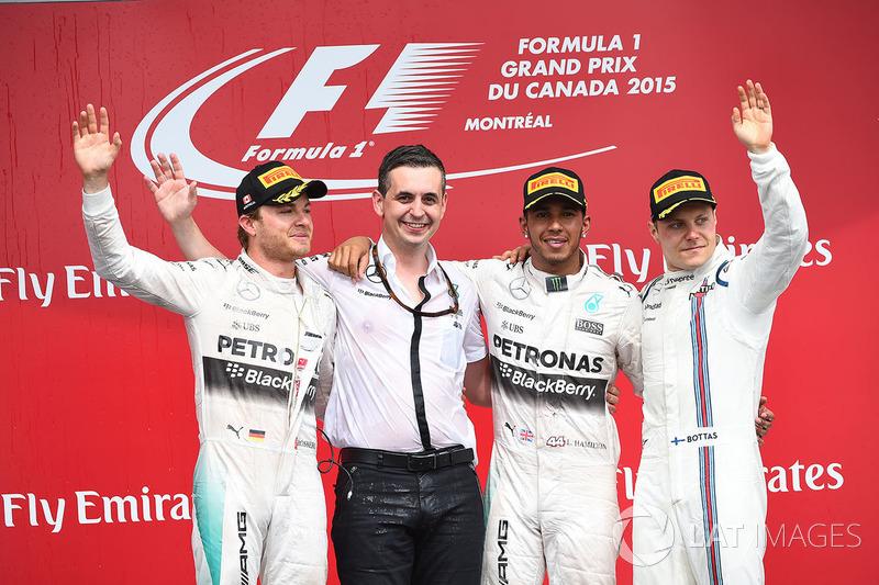 Podium: 1. Lewis Hamilton, Mercedes; 2. Nico Rosberg, Mercedes; 3. Valtteri Bottas, Williams