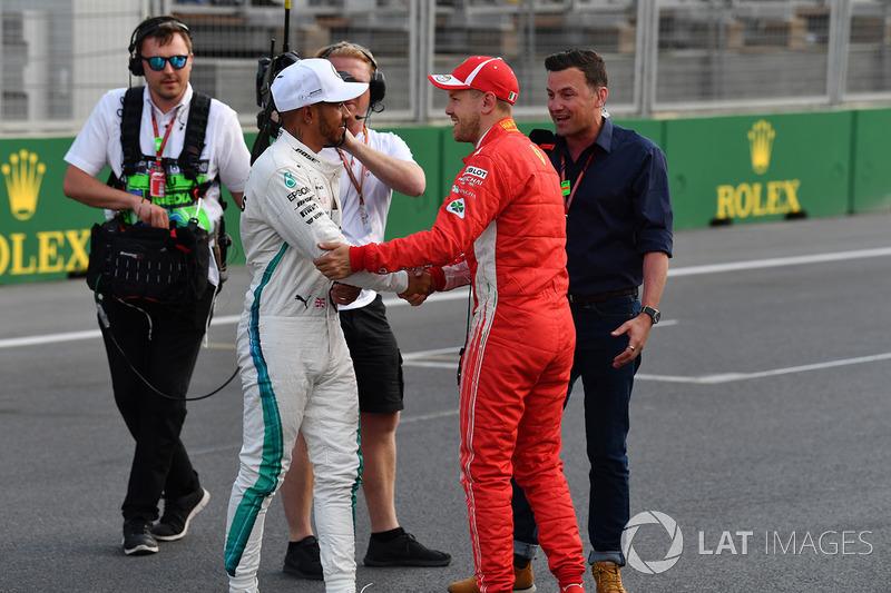 Sebastian Vettel, Ferrari ve Lewis Hamilton, Mercedes-AMG F1