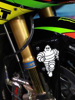 Detalle de la moto de Johann Zarco, Monster Yamaha Tech 3