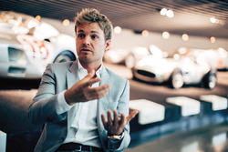 Nico Rosberg at the Mercedes museum
