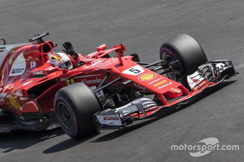 10º Sebastian Vettel - 18 carreras - De Japón 2016 a Italia 2017 - Ferrari