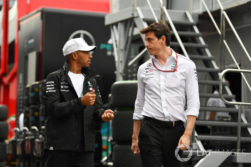 Lewis Hamilton, Mercedes-AMG F1 and Toto Wolff, Mercedes AMG F1 Director of Motorsport