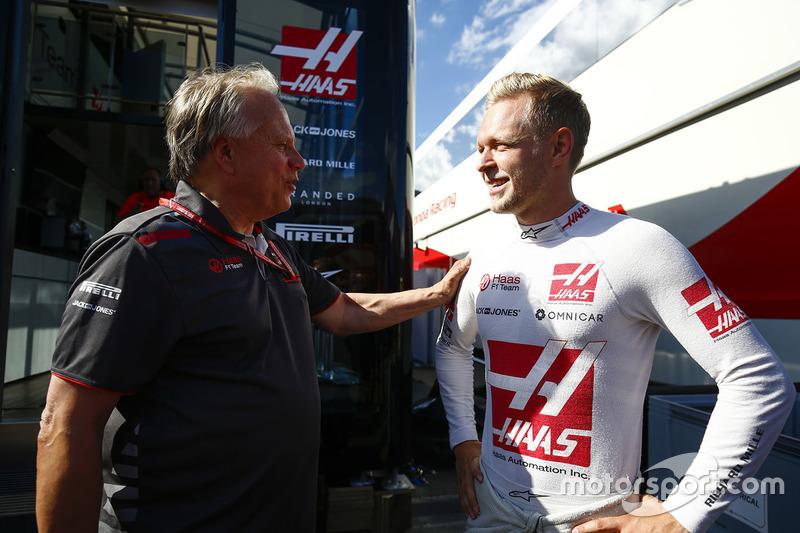 Kevin Magnussen, Haas F1 Team, Gene Haas, Team Owner, Haas F1