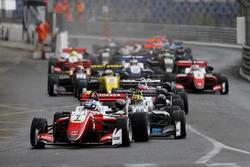 Start action, Ralf Aron, PREMA Theodore Racing Dallara F317 - Mercedes-Benz leads