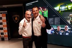 Armando Donazzan, proprietario del team Orange1 Racing, e il team manager Gottfried Grasser, GRT