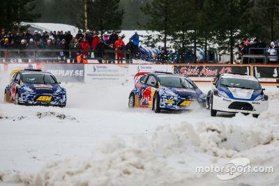 Josef Newgarden en Helio Castroneves Scandinavian RallyX onthulling