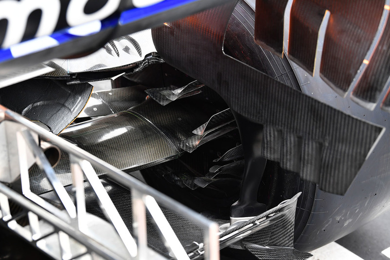 McLaren MCL33 rear brake duct detail