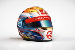 Das neue Helmdesign von Romain Grosjean, Haas F1 Team
