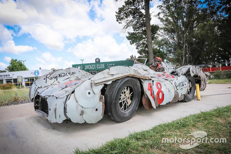 Arte de Fangio Mercedes por Regazzoni