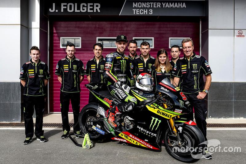 Jonas Folger, Monster Yamaha Tech 3 mit dem Team