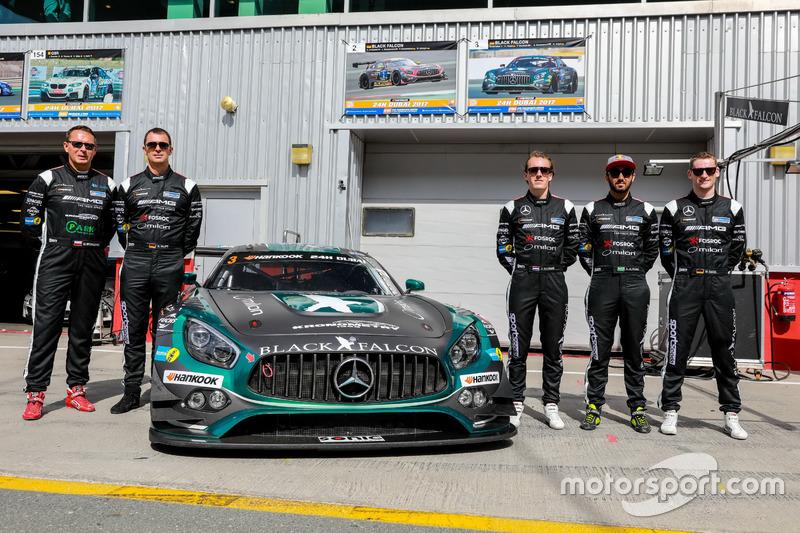 Foto de equipo #3 Black Falcon Mercedes AMG GT3: Abdulaziz Al Faisal, Hubert Haupt, Yelmer Buurman, Michal Broniszewski, Maro Engel