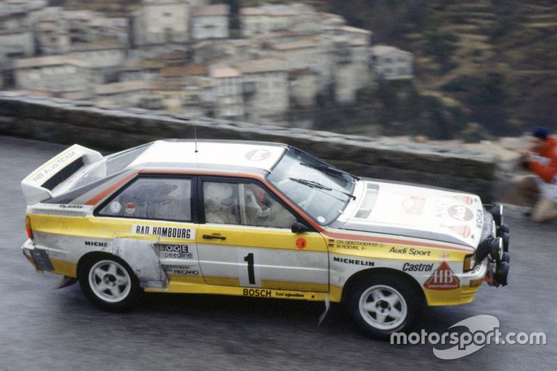 1984 - Quatrième victoire de Röhrl : Audi Sport Quattro A2