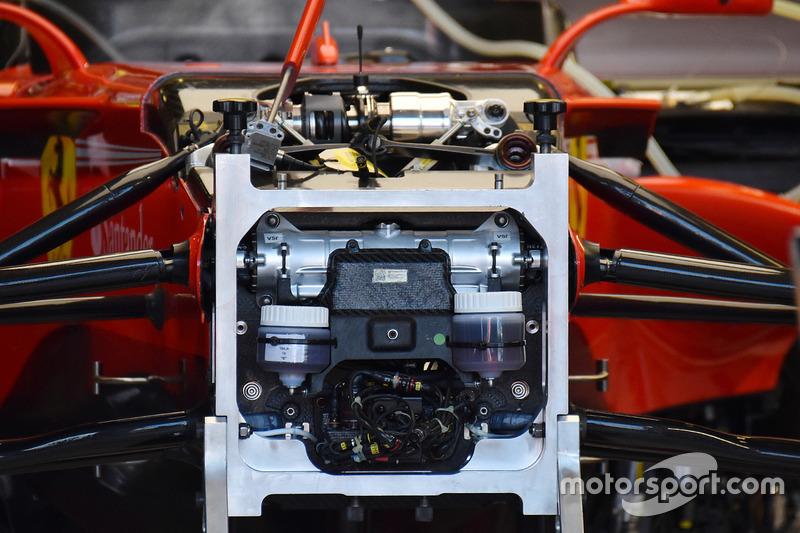 Ferrari SF70H detalle del frente