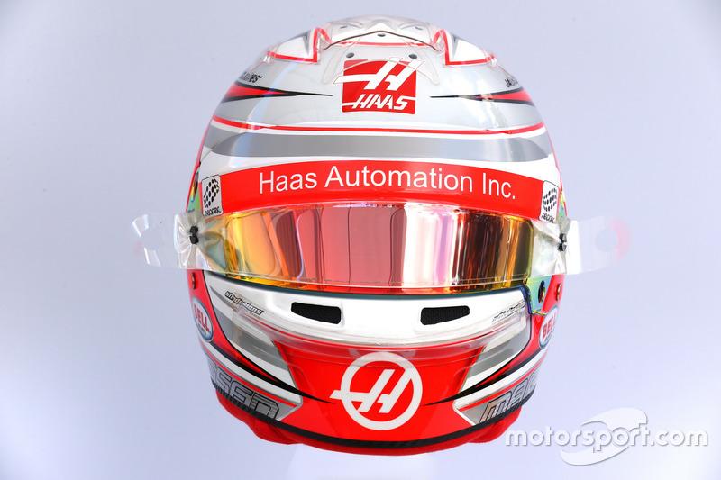 Le casque de Kevin Magnussen, Haas F1 Team