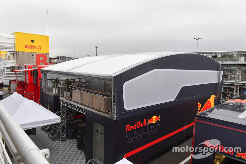 Red Bull Racing motorhome and Energy Station