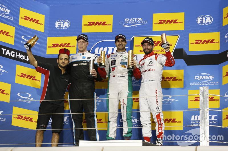 Podium: 1. Mehdi Bennani, Sébastien Loeb Racing, Citroën C-Elysée WTCC; 2. Thed Björk, Polestar Cyan
