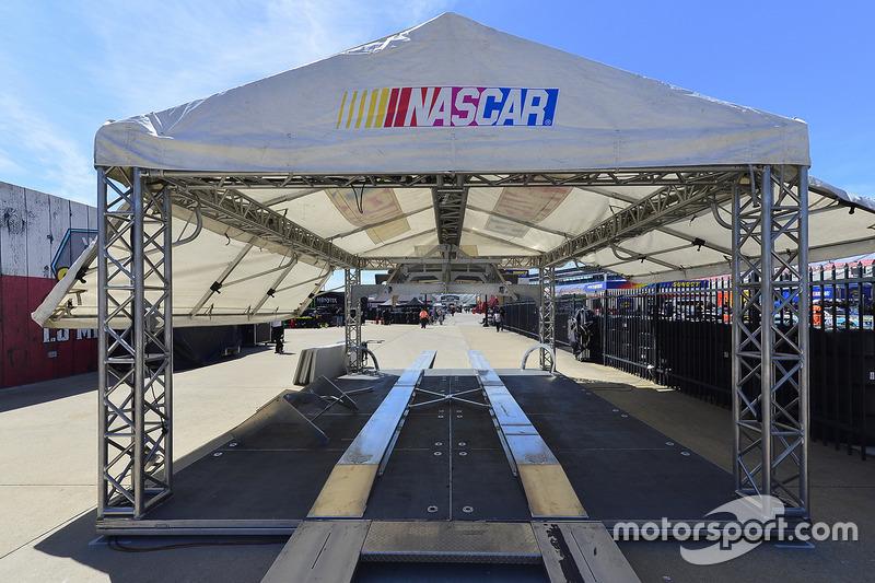 NASCAR-Zelt für die technische Inspektion