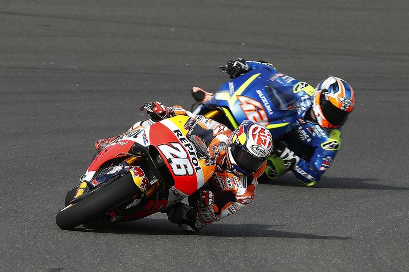 Dani Pedrosa, Repsol Honda Team; Alex Rins, Team Suzuki MotoGP