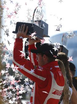 Sébastien Bourdais, Dale Coyne Racing Honda celebrates on the podium