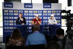 Persconferentie: Maxime Martin, BMW Team RBM, BMW M4 DTM, Mike Rockenfeller, Audi Sport Team Phoenix, Audi RS 5 DTM, Lucas Auer, Mercedes-AMG Team HWA, Mercedes-AMG C63 DTM