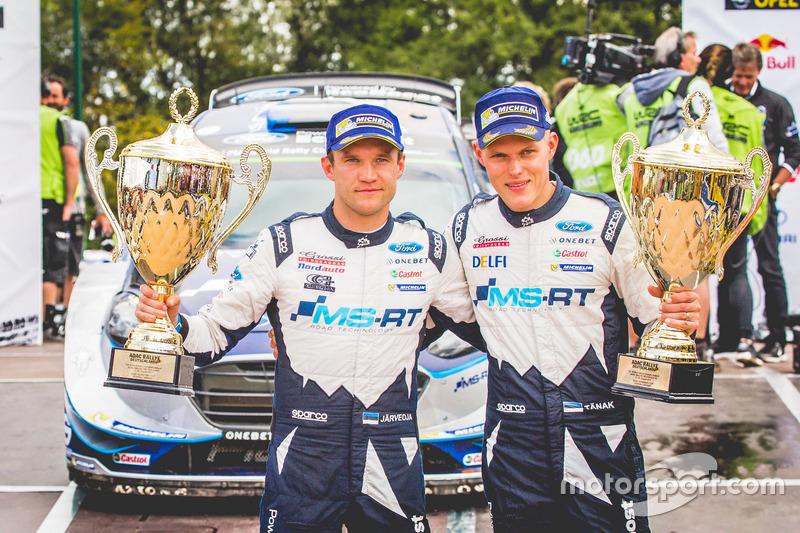 Победители Ралли Германия: Отт Тянак и Мартин Ярвеоя, Ford Fiesta WRC