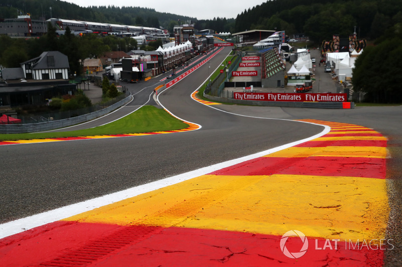Eau Rouge track view