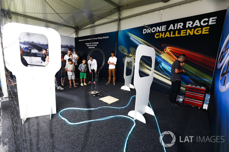 Drone Air Race challenge in the F1 Fanzone